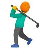 Person Golfing on Google Android 9.0