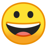 Grinning Face on Google Android 9.0