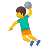 Person Playing Handball on Google Android 9.0