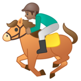 Horse Racing: Medium Skin Tone on Google Android 9.0