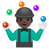 Person Juggling: Dark Skin Tone on Google Android 9.0
