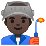 Man Factory Worker: Dark Skin Tone on Google Android 9.0