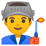 Man Factory Worker on Google Android 9.0