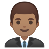 Man Office Worker: Medium Skin Tone on Google Android 9.0