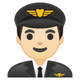 Man Pilot: Light Skin Tone on Google Android 9.0