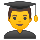 Man Student on Google Android 9.0