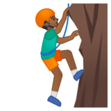 Man Climbing: Medium-Dark Skin Tone on Google Android 9.0