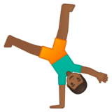Man Cartwheeling: Medium-Dark Skin Tone on Google Android 9.0