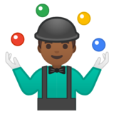 Man Juggling: Medium-Dark Skin Tone on Google Android 9.0
