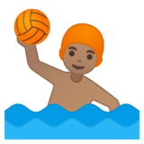 Man Playing Water Polo: Medium Skin Tone on Google Android 9.0