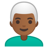 Man: Medium-Dark Skin Tone, White Hair on Google Android 9.0