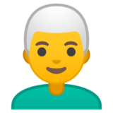 Man: White Hair on Google Android 9.0