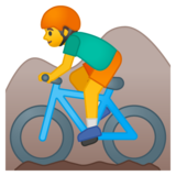 Person Mountain Biking on Google Android 9.0