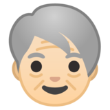Older Person: Light Skin Tone on Google Android 9.0