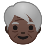 Older Person: Dark Skin Tone on Google Android 9.0