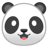 Panda Face on Google Android 9.0