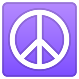 Peace Symbol on Google Android 9.0