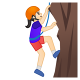 Person Climbing: Light Skin Tone on Google Android 9.0