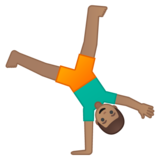 Person Cartwheeling: Medium Skin Tone on Google Android 9.0