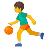 Person Bouncing Ball on Google Android 9.0