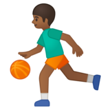 Person Bouncing Ball: Medium-Dark Skin Tone on Google Android 9.0