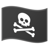 Pirate Flag on Google Android 9.0