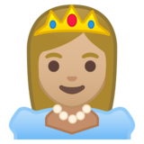 Princess: Medium-Light Skin Tone on Google Android 9.0