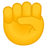 Raised Fist on Google Android 9.0