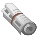 Rolled-Up Newspaper on Google Android 9.0
