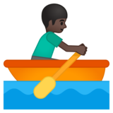 Person Rowing Boat: Dark Skin Tone on Google Android 9.0