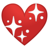 Sparkling Heart on Google Android 9.0