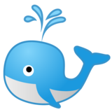 Spouting Whale on Google Android 9.0