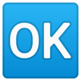 OK Button on Google Android 9.0