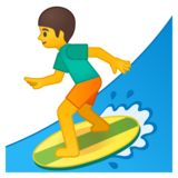 Person Surfing on Google Android 9.0