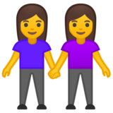 Women Holding Hands on Google Android 9.0