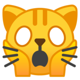 Weary Cat Face on Google Android 9.0