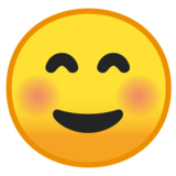 Smiling Face on Google Android 9.0