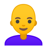 Woman: Bald on Google Android 9.0