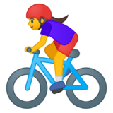 Woman Biking on Google Android 9.0