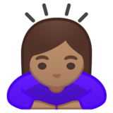 Woman Bowing: Medium Skin Tone on Google Android 9.0