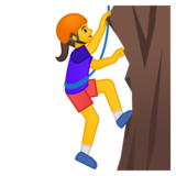 Woman Climbing on Google Android 9.0