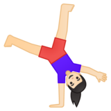 Woman Cartwheeling: Light Skin Tone on Google Android 9.0