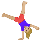 Woman Cartwheeling: Medium-Light Skin Tone on Google Android 9.0