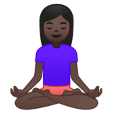 Woman in Lotus Position: Dark Skin Tone on Google Android 9.0