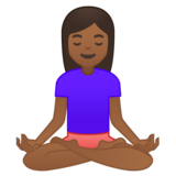 Woman in Lotus Position: Medium-Dark Skin Tone on Google Android 9.0