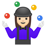 Woman Juggling: Light Skin Tone on Google Android 9.0
