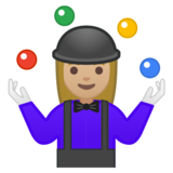 Woman Juggling: Medium-Light Skin Tone on Google Android 9.0