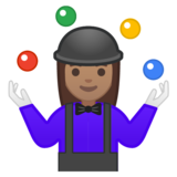 Woman Juggling: Medium Skin Tone on Google Android 9.0