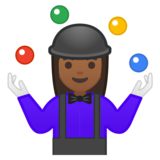 Woman Juggling: Medium-Dark Skin Tone on Google Android 9.0