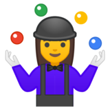 Woman Juggling on Google Android 9.0